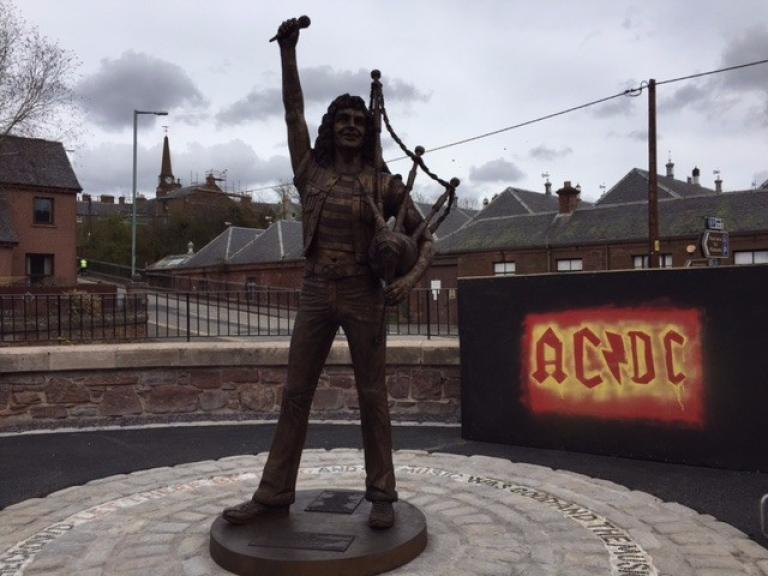 Bon Scott Statue Unveiled in Scottish Hometown