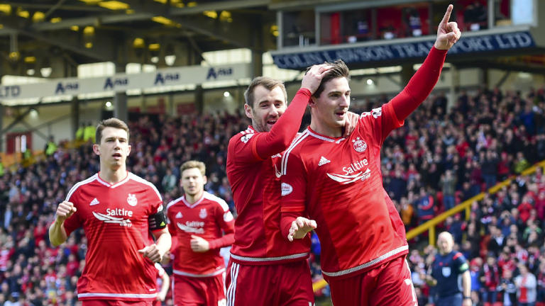 See Aberdeen cement second place with 4-1 victory over Motherwell