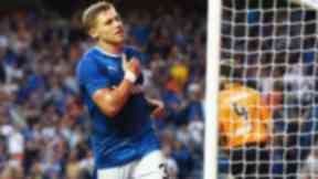 Rangers' Martyn Waghorn celebrates after he scores his side's second