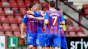 Treble: Ian Vigurs was the star as Inverness battered the Pars.