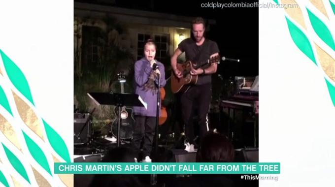 This Morning - Chris Martin's Apple didn't fall far from the tree