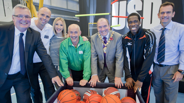 Location: Jim Logue, Dean Macey, Sinead Kerr, Barry McGuigan, Provost Tom Curley, Ore Oduba, and Bla