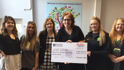 Picture shows (L-R): Carla Fyfe, head of business development at Achieve More Scotland, Karen Geraldine Flanagan, coach at Achieve More Scotland, Pamela McTaggart, deputy head teacher at Chyrnside Primary School, Anne Hughes. head of fundraising at Achieve More Scotland, Jennifer Jack, coach at Achieve More Scotland, and Bailie Jacqueline McLaren, councillor at Glasgow City Council.