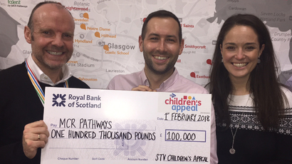 MCR Pathways receives £100,000 from STV Children's Appeal