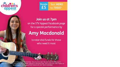 Amy McDonald live on STV Children's Appeal facebook
