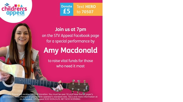 Amy McDonald live on STV Children's Appeal facebook