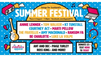 Songs for Scotland's Summer Festival in aid of STV Children's Appeal