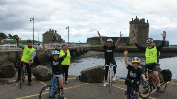 Cyclists pedal for the STV Children's Appeal in the Dundee 2020 Cyclathon
