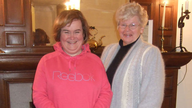 A day out fit for the queen of music: Susan Boyle visits Drum Castle