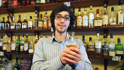 Dram fine: Blair Bowman is behind the first ever World Whisky Day.