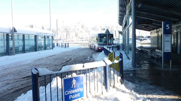 Snow go: There will be no buses operating in East Kilbride on Christmas Day
