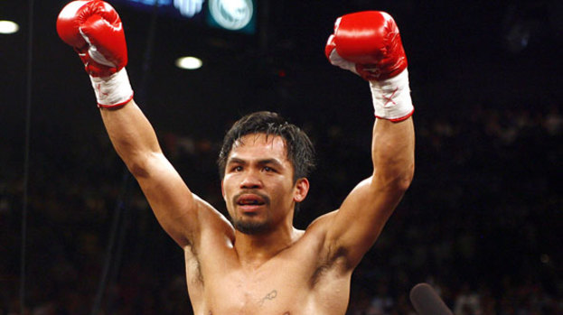 Pacquiao escapes typhoon horror