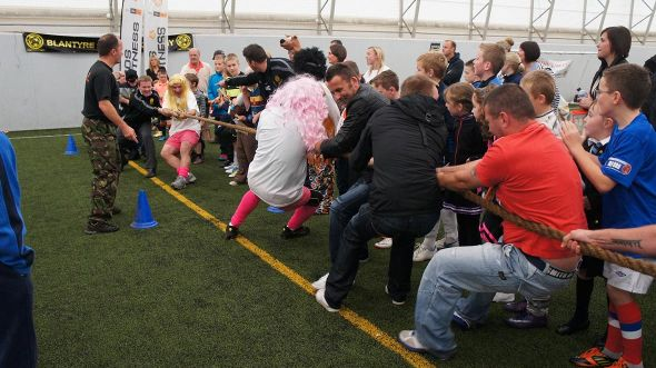 Picture: Fun and games at Blantyre Soccer Academy's charity night