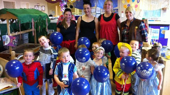 Picture: Great effort: Happitots nursery fundraisers from Cumbernauld