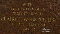 The headstone from the gr...