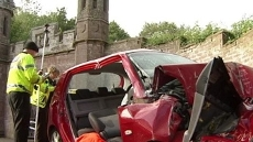 A driver has died after h...