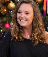 Charlie Brooks on the sofa - On This Morning