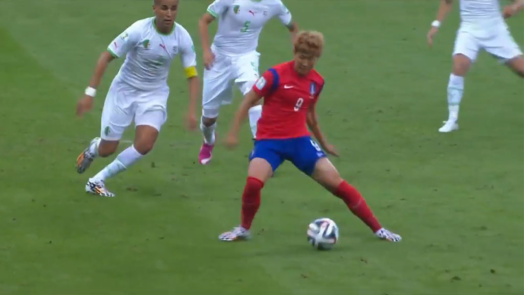 Son Heung-min's strike for South Korea in 2014