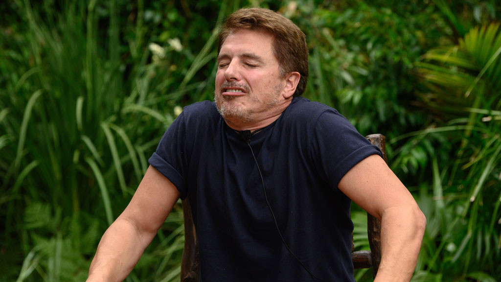 John chomps through his Bushtucker Bonanza